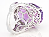 Pre-Owned Lavender Amethyst Sterling Silver Ring 22.36ctw