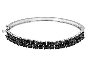 Pre-Owned Black Spinel Sterling Silver Bracelet 8.20ctw