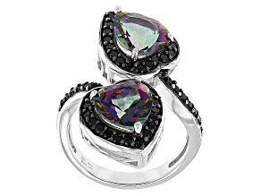 Pre-Owned Multicolor Mystic Topaz® Silver Ring 3.64ctw