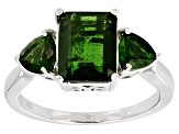 Pre-Owned Green Chrome Diopside Sterling Silver Ring 3.35ctw