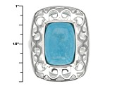 Pre-Owned Turquoise Sterling Silver Ring