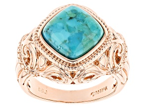 Pre-Owned Blue Turquoise Copper Ring