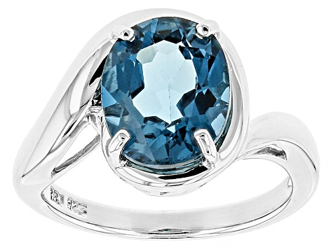 Pre-Owned London Blue Topaz Sterling Silver Ring 3.85ct