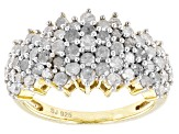 Pre-Owned Diamond 14k Yellow Gold Over Silver 1.95ctw