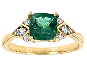 Pre-Owned Green Emerald 10k Yellow Gold Ring 1.65ctw