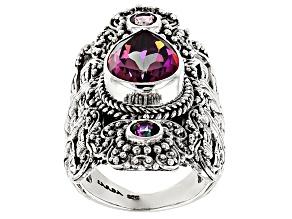 Pre-Owned Tempus Fugit™ Mystic Quartz® Silver Ring 5.36ctw