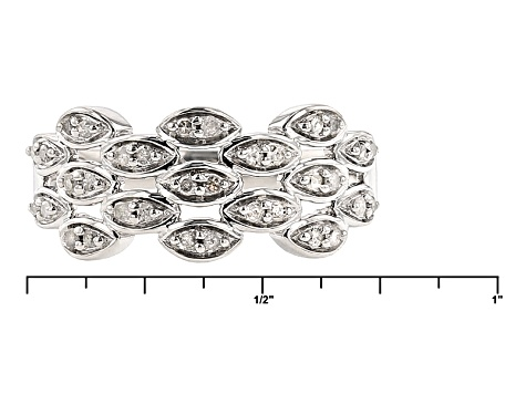 Pre-Owned Diamond Rhodium Over Silver Ring .22ctw