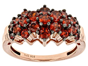 Pre-Owned Red Cubic Zirconia 18k Rose Gold Over Sterling Silver Ring 3.05ctw