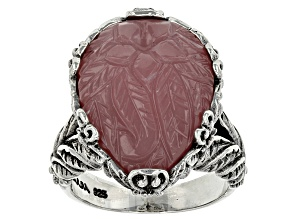 Pre-Owned Pink Guava Quartz Silver Ring