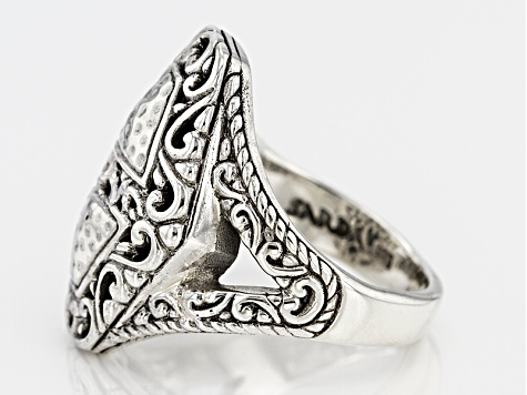 Pre-Owned Sterling Silver Geometric Ring