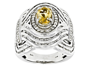 Pre-Owned Yellow Brazilian Citrine Sterling Silver Ring 2.07ctw