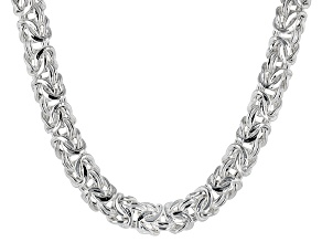 Pre-Owned Sterling Silver Hollow Byzantine Necklace 20 inch