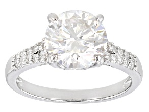 Pre-Owned Moissanite Ring Platineve™ 3.87ctw DEW