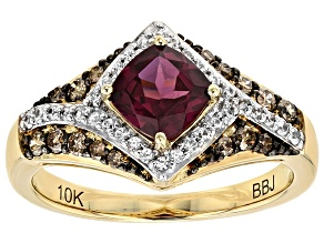 Pre-Owned Purple Rhodolite 10k Yellow Gold Ring 1.58ctw