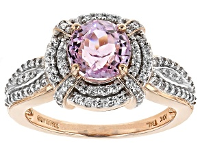 Pre-Owned Pink Kunzite 10k Rose Gold Ring 2.20ctw