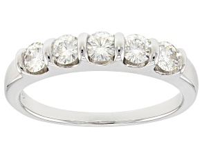 Pre-Owned Moissanite Ring Platineve™ .80ctw DEW