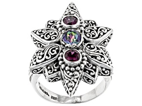 Pre-Owned Rose Paradox™ Mystic Topaz® Silver Ring 1.11ctw