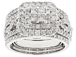 Pre-Owned Diamond Bridal Set 10k White Gold 2.00ctw.
