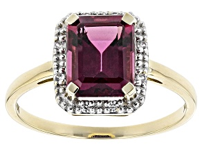 Pre-Owned Grape Color Garnet 10k Gold Ring 2.31ctw