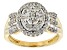 Pre-Owned Diamond 14k Yellow Gold Over Sterling Silver Ring .50ctw