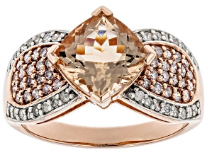 Pre-Owned Cor-De-Rosa Morganite ™2.07ct With .20ctw White Diamond & .33ctw Pink Diamond 10k Rose Gol