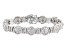 Pre-Owned White Cubic Zirconia Rhodium Over Silver Bracelet 14.44ctw