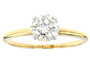 Pre-Owned Moissanite 14k Yellow Gold Solitaire Ring 1.20ct DEW