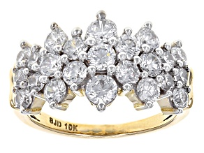 Pre-Owned White Cubic Zirconia 10k Yellow Gold Ring 4.05ctw