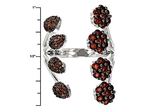 Pre-Owned Red Garnet Sterling Silver Ring 1.51ctw