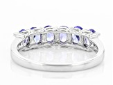 Pre-Owned Blue Tanzanite Sterling Silver Ring .84ctw