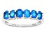 Pre-Owned Blue Neon Apatite Sterling Silver Ring .97ctw