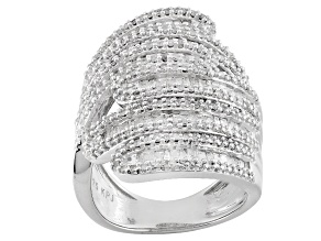 Pre-Owned Rhodium Over Sterling Silver Diamond Ring 1.75ctw