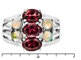 Pre-Owned Purple Rhodolite Sterling Silver Ring 3.06ctw