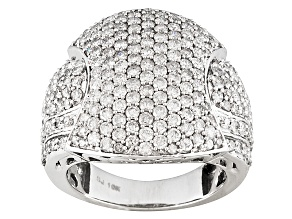 Pre-Owned White Diamond 10k White Gold Ring 3.00ctw