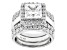 Pre-Owned White Cubic Zirconia Rhodium Over Sterling Silver Ring 8.65ctw