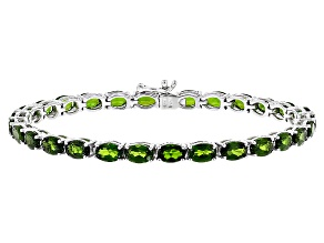 Pre-Owned Green Chrome Diopside Sterling Silver Bracelet 14.50ctw