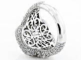 Pre-Owned Womens Pave Custom Design Ring White Cubic Zirconia 14.37ctw Platineve