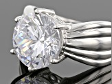 Pre-Owned White Cubic Zirconia Rhodium Over Sterling Silver Ring 11.93ctw