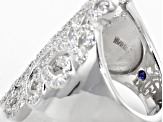 Pre-Owned 2.17ctw Cubic Zirconia Platinum Plated Sterling Silver Ring