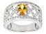 Pre-Owned Yellow Citrine Sterling Silver Ring. 1.24ctw