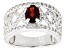 Pre-Owned Red Garnet Sterling Silver Ring. 1.41ctw