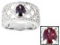 Pre-Owned Lab Created Color Change Alexandrite Sterling Silver Ring. 1.37ctw