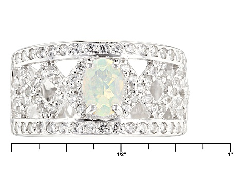 Pre-Owned Ethiopian Opal Sterling Silver Ring. .99ctw