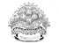 Pre-Owned Cubic Zirconia Silver Ring 6.77ctw (4.71ctw DEW)