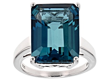 Pre-Owned Sky Blue Topaz Sterling Silver Ring 12 90ctw