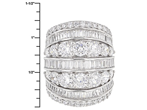 Pre-Owned Cubic Zirconia Silver Ring 13.97ctw (8.14ctw DEW)