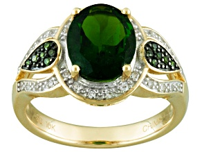 Pre-Owned Green Chrome Diopside 10k Yellow Gold Ring 2.35ctw