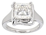 Pre-Owned Moissanite Platineve Ring 3.60ct D.E.W