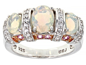 Pre-Owned Ethiopian Opal Sterling Silver Ring 1.95ctw