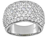 Pre-Owned White Zircon Sterling Silver Band Ring 4.50ctw
